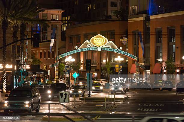 gaslamp quarter - old town san diego stock pictures, royalty-free photos & images