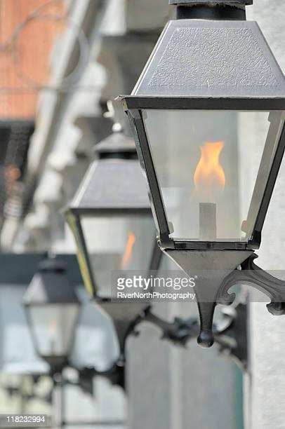 gaslights 、ジョージア州サバンナ - ガス燈 ストックフォトと画像