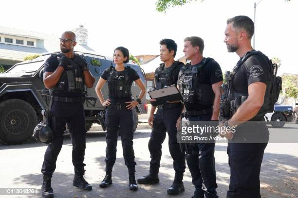 Gasoline Drum Coverage of the CBS series SWAT scheduled to air on the CBS Television Network Pictured L to R Shemar Moore as Daniel Hondo Harrelson...