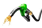 Gasoline Gushing Out From Pump