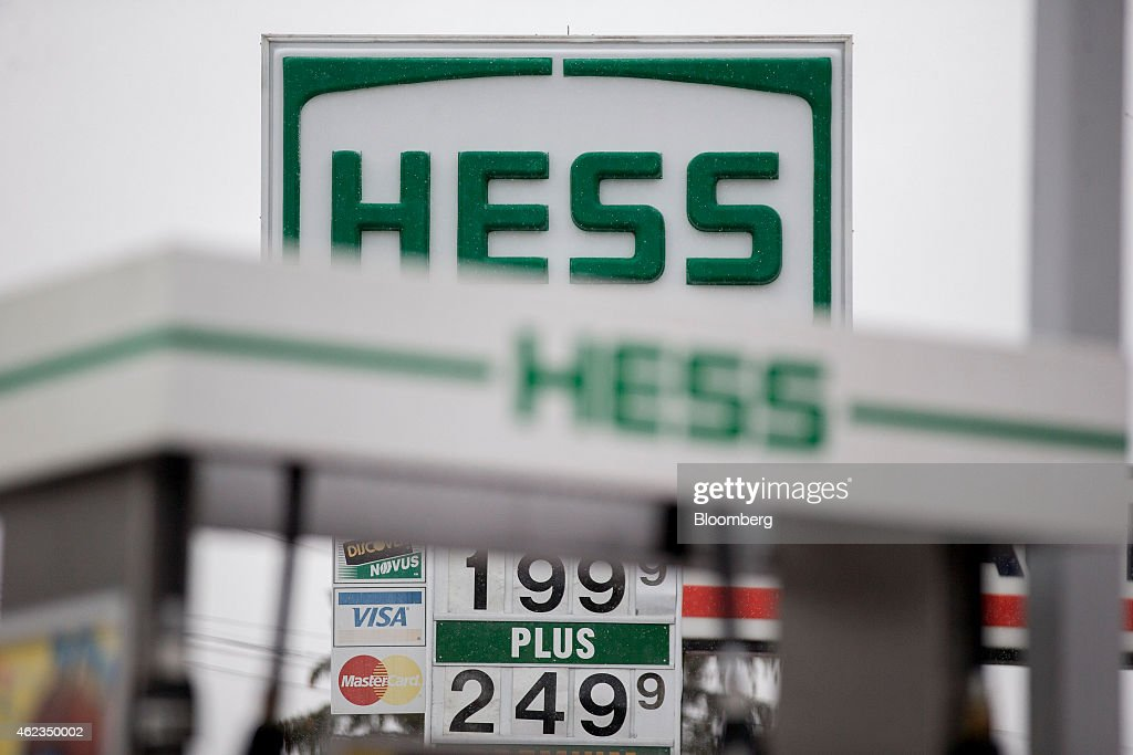 Gasoline prices are displayed on a sign at a Hess Corp. gas station in Falls Church, Virginia, U.S., on Monday, Jan. 26, 2015. Hess Corp. is expected to report fourth-quarter earnings figures on Jan. 28. Photographer: Andrew Harrer/Bloomberg via Getty Images