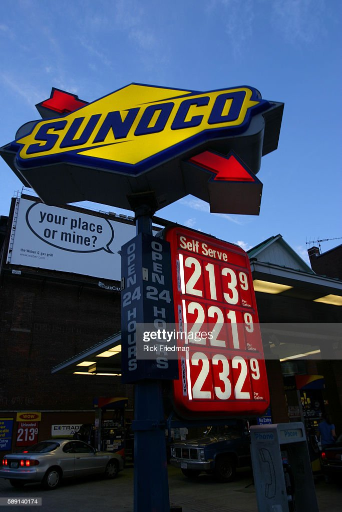 Boston Gas Prices >> Gasoline Prices Are Seen At A Station In Boston At 7pm Edt