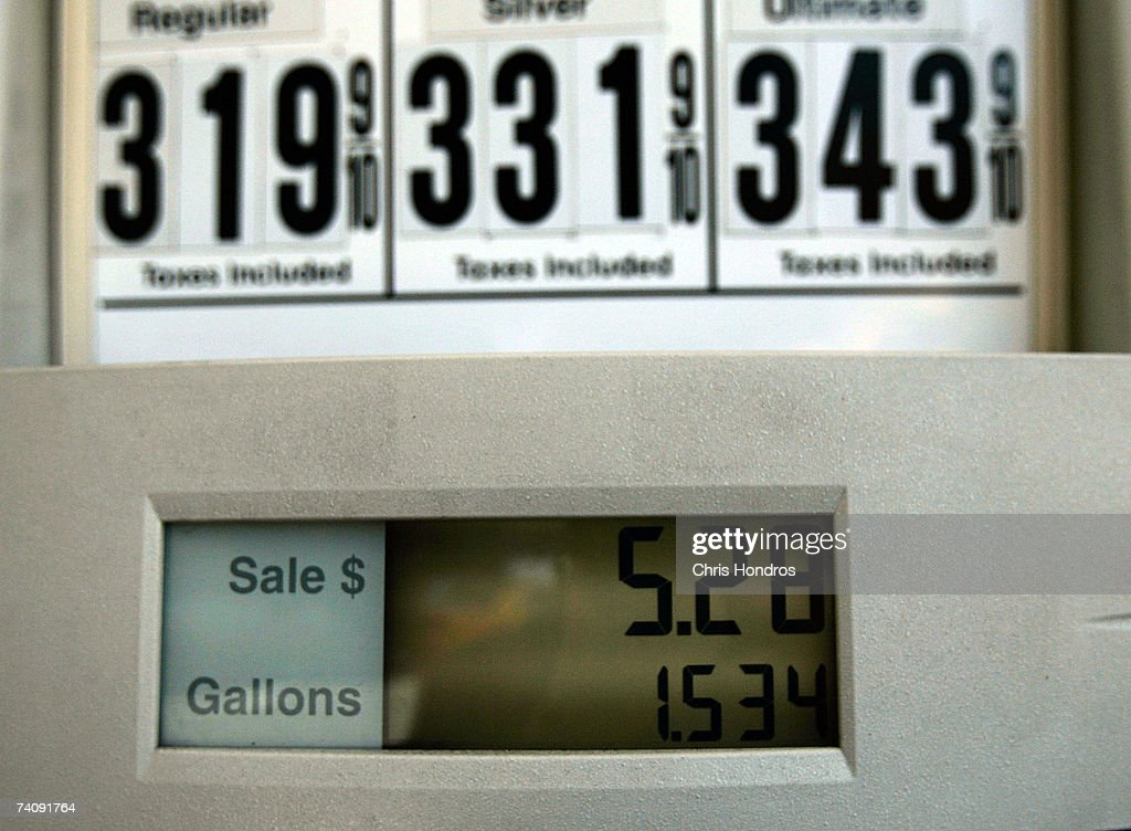 A gasoline pump is seen at a service station May 7, 2007 in New York City. Gasoline prices have surged to a record national average of $3.07.
