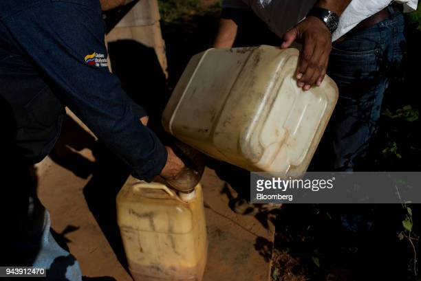 A gasoline smuggler sells fuel in El Callao Bolivar State Venezuela on Tuesday Feb 27 2018 The military has been fighting for months to master El...
