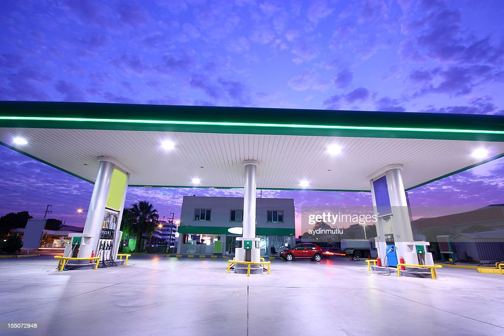 Gasoline Station and Convenience Store : Stock Photo
