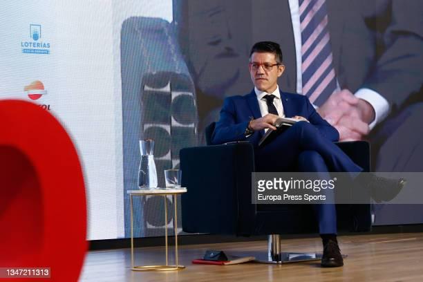 "Gaspar Diez, journalist, during the Europa Press interview ""Desayunos Deportivos Europa Press"" to Miguel Carballeda, President of the Spanish..."