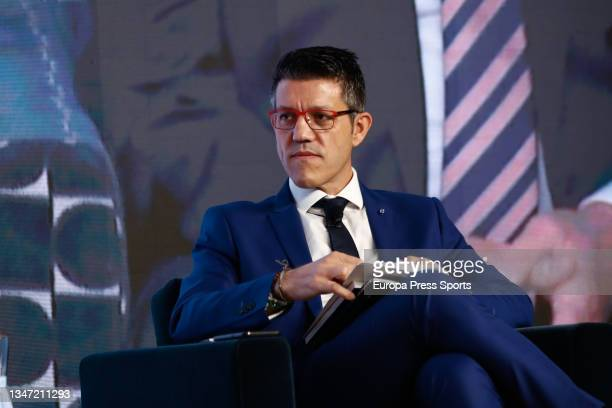 "Gaspar Diez, journalist, looks on during the Europa Press interview ""Desayunos Deportivos Europa Press"" to Miguel Carballeda, President of the..."