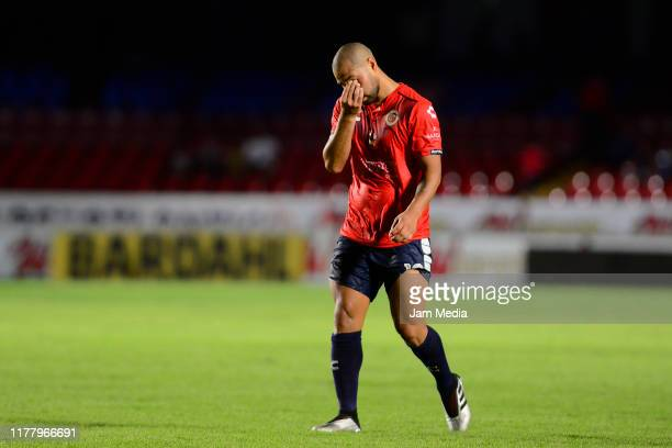 Gaspar Iniguez of Veracruz reacts during the 12th round match between Veracruz and Toluca as part of the Torneo Apertura 2019 Liga MX at Luis...