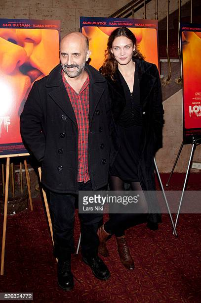 Gaspar Noe and Aomi Muyock attend the 'Love' New York Special Screening at the Village East Cinema in New York City �� LAN