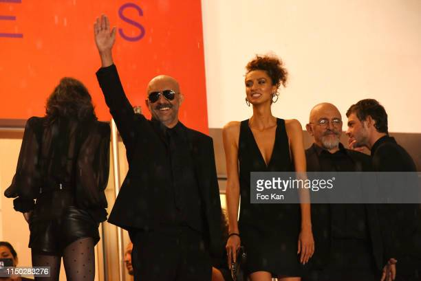 """Gaspar Noe and guests attend the screening of """"Lux Aeterna"""" during the 72nd annual Cannes Film Festival on May 18, 2019 in Cannes, France."""