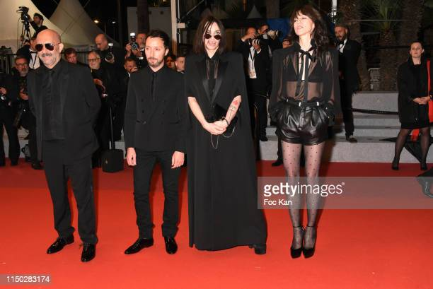 """Gaspar Noe, Anthony Vaccarello, Beatrice Dalle and Charlotte Gainsbourg attend the screening of """"Lux Aeterna"""" during the 72nd annual Cannes Film..."""
