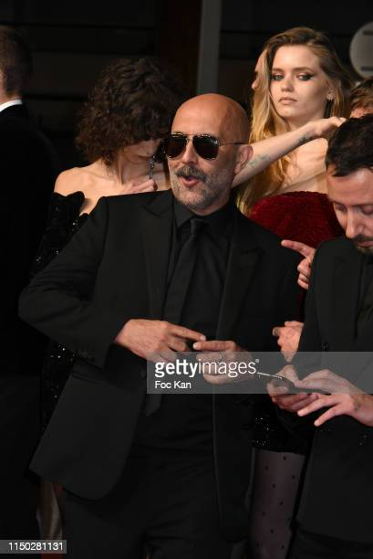 """Gaspar Noe, Mica Arganaraz and Abbey Lee attend the screening of """"Lux Aeterna"""" during the 72nd annual Cannes Film Festival on May 18, 2019 in Cannes,..."""