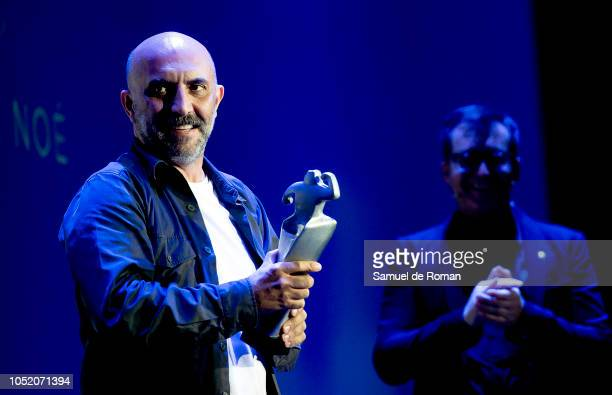Gaspar Noe receives the Best Film award during the Closure Gala at Sitges Film Festival on October 13 2018 in Sitges Spain