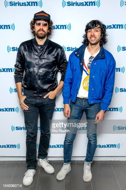 Gaspard AugŽ and Xavier de Rosnay of French electronic music duo Justice visit SiriusXM Studios on September 25 2018 in New York City