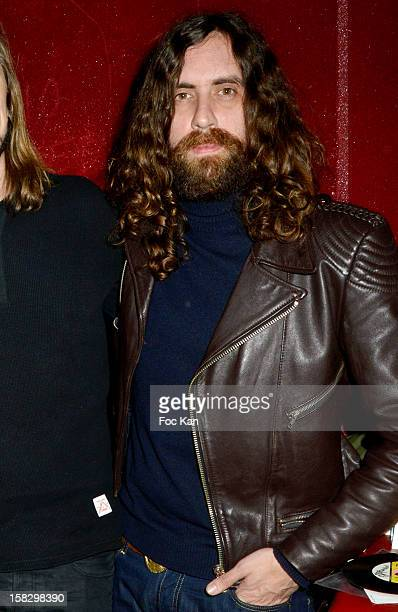 Gaspard Auge from Justice attends the 'Colette Kids' Party At The Baron Club on December 12 2012 in Paris France