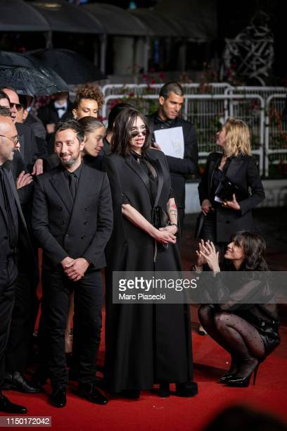 """Gaspard Noe, Anthony Vaccarello, Beatrice Dalle and Charlotte Gainsbourg attend the screening of """"Lux Aetterna"""" during the 72nd annual Cannes Film..."""