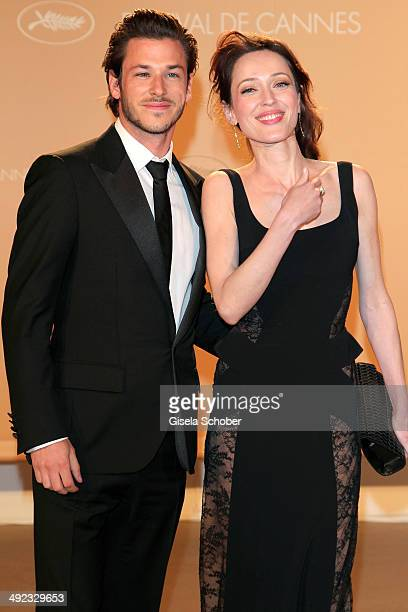 Gaspard Ulliel and Gaelle Pietri attend the Agora dinner at the 67th Annual Cannes Film Festival on May 19 2014 in Cannes France