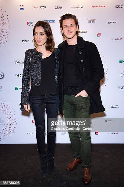 Gaspard Ulliel and Gaelle Pietri attend The Lumiere Le Cinema Invente exhibition preview at 'Le Grand Palais' on March 26 2015 in Paris France