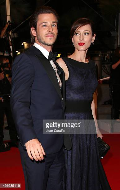 Gaspard Ulliel and his girlfriend Gaelle Pietri attend the 'Saint Laurent' premiere during the 67th Annual Cannes Film Festival on May 17 2014 in...