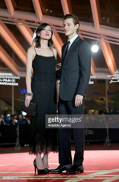 Gaspard Ulliel and his partner attend the 'Fernando Solanas' Tribute within the 13th Marrakech International Film Festival on December 5 2013 in...