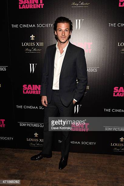 Gaspard Ulliel attends Sony Pictures Classics' screening of Saint Laurent hosted by The Cinema Society with Louis XII Cognac and W Magazine at the...