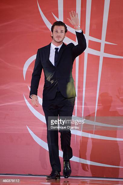 Gaspard Ulliel attends the Cinecoles Award during the 14th Marrakech International Film Festival on December 12 2014 in Marrakech Morocco