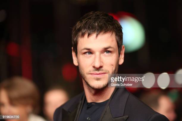 Gaspard Ulliel attends the 'Eva' premiere during the 68th Berlinale International Film Festival Berlin at Berlinale Palast on February 17 2018 in...