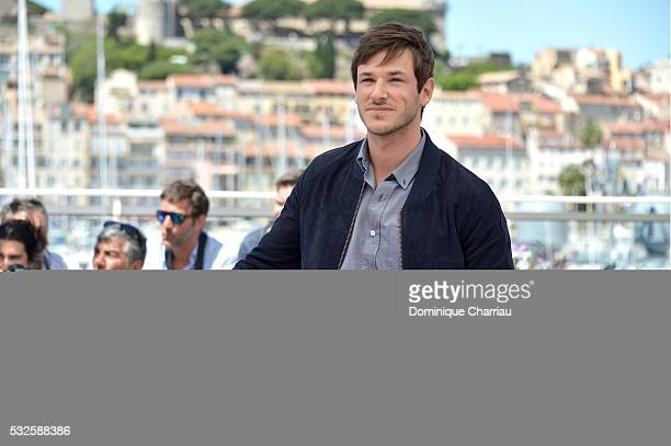 """Gaspard Ulliel attends the """"It's Only The End Of The World """" Photocall during the 69th annual Cannes Film Festival at the Palais des Festivals on May..."""
