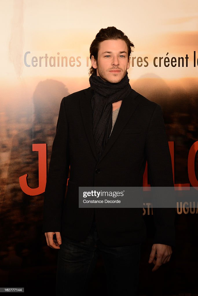 Gaspard Ulliel attends the 'Jappeloup' premiere at Le Grand Rex on February 26, 2013 in Paris, France.