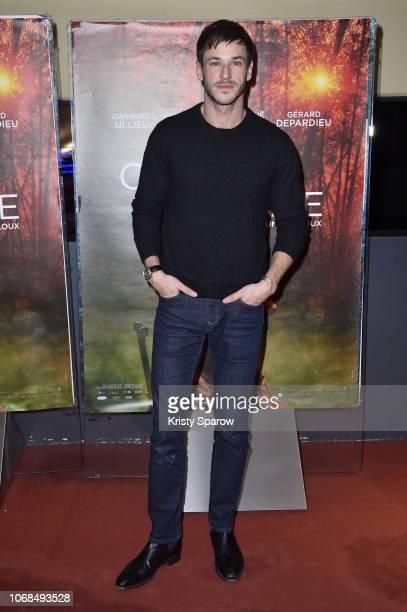 Gaspard Ulliel attends the 'Les Confins Du Monde' Paris Premiere at UGC Cine Cite des Halles on December 4 2018 in Paris France