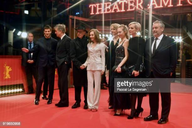 Gaspard Ulliel Benoit Jacquot Festival director Dieter Kosslick Isabelle Huppert French ambassadr AnneMarie Descotes Julia Roy Melita Toscan du...