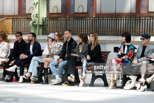 Gaspard Ulliel Guillaume Gouix Lily Taieb LilyRose Depp a guest Alma Jodorowsky Joana Preiss Nana Komatsu and JeanPaul Goude attend the Chanel Cruise...