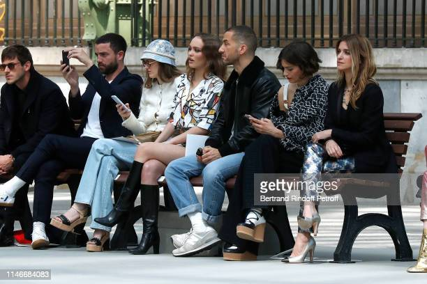 Gaspard Ulliel, Guillaume Gouix, Lily Taieb, Lily-Rose Depp, a guest, Alma Jodorowsky and Joana Preiss attend the Chanel Cruise Collection 2020 :...