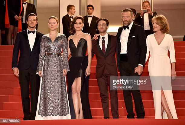 Gaspard Ulliel Lea Seydoux Marion Cotillard Xavier Dolan Nathalie Baye and Vincent Cassel attend the 'It's Only The End Of The World ' Premiere...