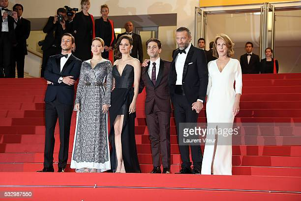 Gaspard Ulliel Lea Seydoux Marion Cotillard Xavier Dolan Vincent Cassel and Nathalie Baye attend the 'It's Only The End Of The World ' Premiere...