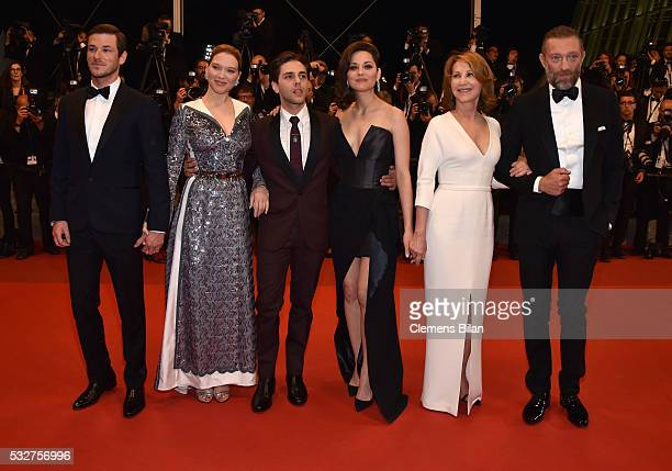 Gaspard Ulliel Lea Seydoux Xavier Dolan Marion Cotillard Nathalie Baye and Vincent Cassel attend the 'It's Only The End Of The World ' Premiere...
