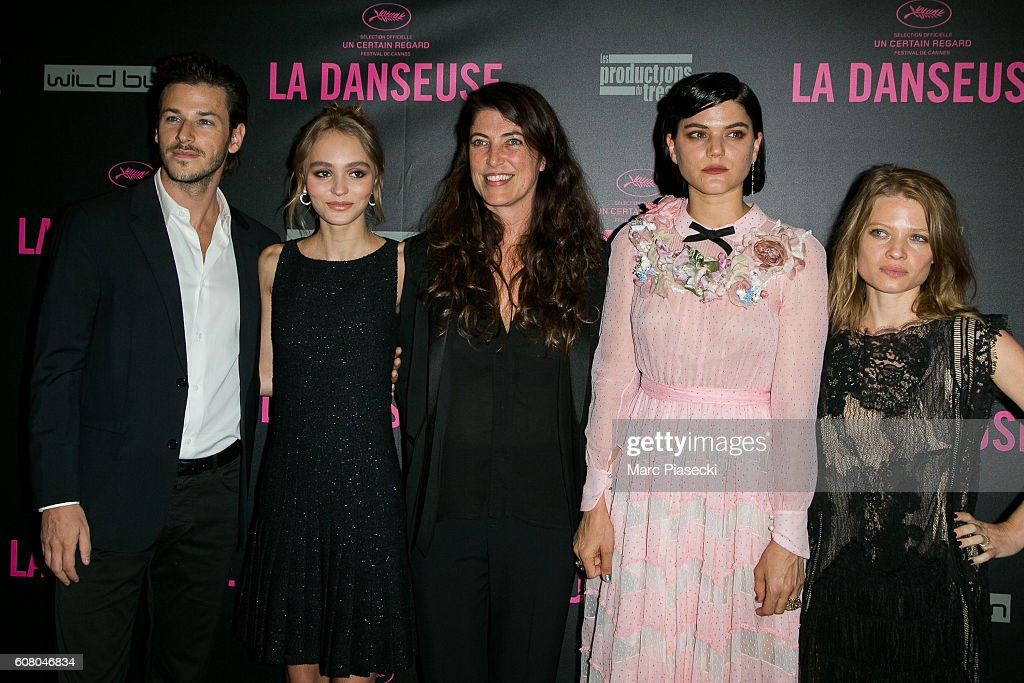 Gaspard Ulliel, Lily-Rose Depp, Stephanie Di Giusto, Stephanie Sokolinski a.k.a. SoKo and Melanie Thierry attend the 'La Danseuse' Premiere at Cinema Gaumont Opera on September 19, 2016 in Paris, France.