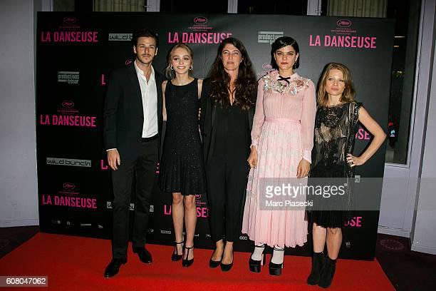 Gaspard Ulliel LilyRose Depp Stephanie Di Giusto Stephanie Sokolinski aka SoKo and Melanie Thierry attend the 'La Danseuse' Premiere at Cinema...