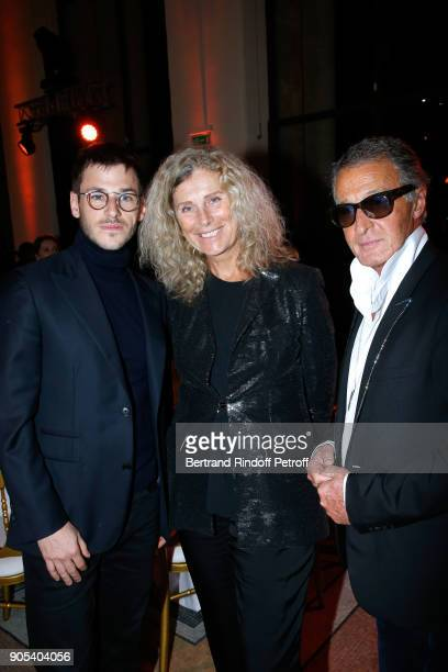 Gaspard Ulliel with Image Director at Chanel Eric Pfrunder and his wife attend the 'Cesar Revelations 2018' Party at Le Petit Palais on January 15...