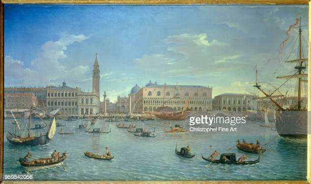 Gaspard Van Wittel View of Venice from the Island of San Giorgio Oil on canvas98 x 174 m Madrid museo del Prado
