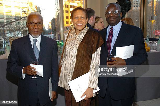 Gasper Martins Alice Dear and Ibrahim Gambari attend Diamonds for Humanity Gala at Avery Fischer Hall at Lincoln Center on April 13 2005 in New York...