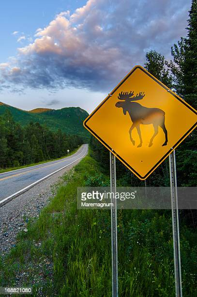 Gaspesie National Park, sign in a road of the park