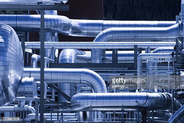 gasplant ductwork - gas stock pictures, royalty-free photos & images