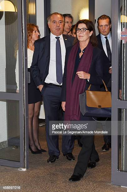 CEO Gassan Diamonds Benno Leeser and Princess Caroline of Hanover attend a visit at the Gassan Diamonds factory on November 7 2014 in Amsterdam...