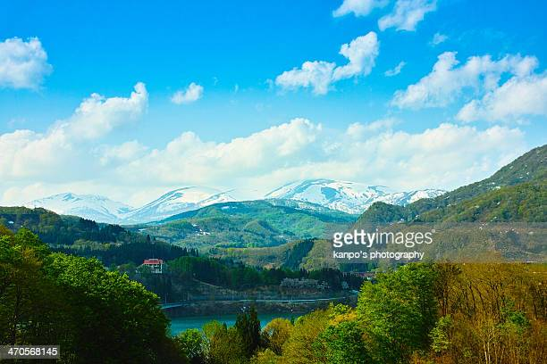 gassan spring visited - 山形県 ストックフォトと画像