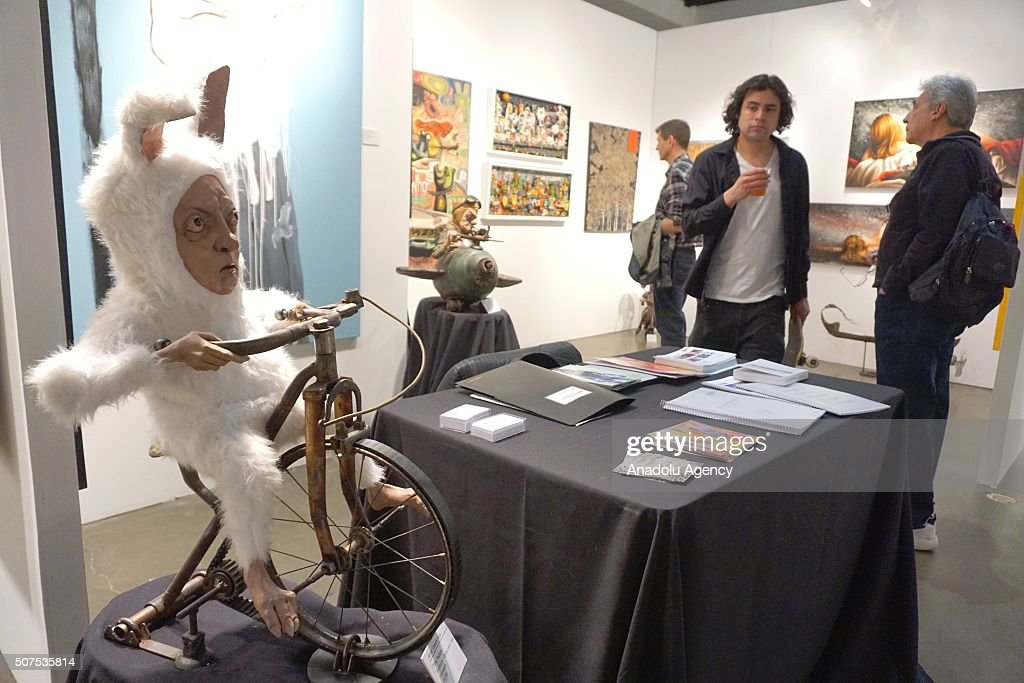 Gaston Aita's 'Rabbit' is displayed at the Los Angeles Art Show at the Convention Center in downtown Los Angeles, California, USA, 30 January 2016. The Los Angeles Art Show with hundreds of exhibitors is one of the largest art shows in the United States.
