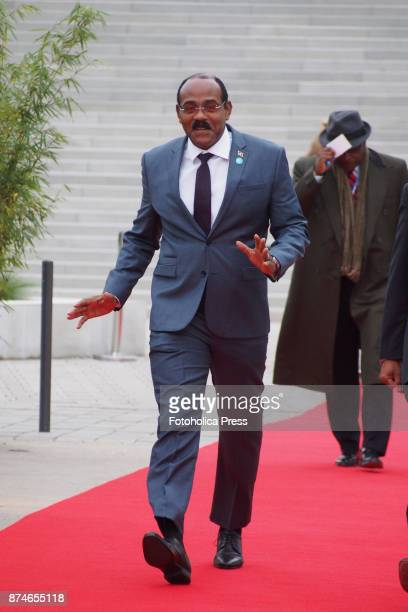 Gaston Browne Prime Minister of Antigua and Barbuda arriving to the United Nations Framework Convention on Climate Change UNFCCC COP23