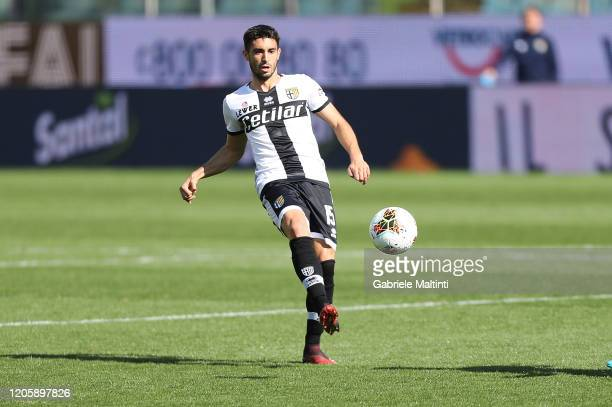 Gaston Brugman of Parma Calcio in action during the Serie A match between Parma Calcio and SPAL at Stadio Ennio Tardini on March 8, 2020 in Parma,...
