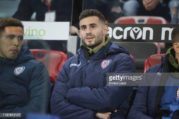 Gaston Pereiro of Cagliari looks on during the Serie A match between Cagliari Calcio and Parma Calcio at Sardegna Arena on February 1 2020 in...