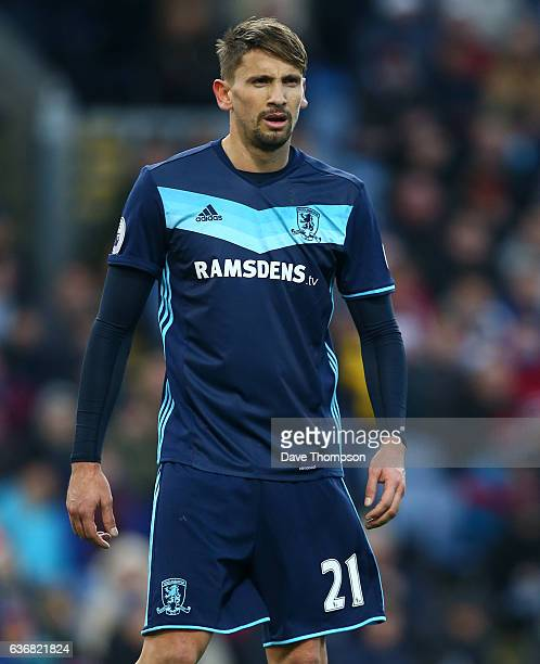 Gaston Ramirez of Middlesbrough during the Premier League match between Burnley and Middlesbrough at Turf Moor on December 26 2016 in Burnley England